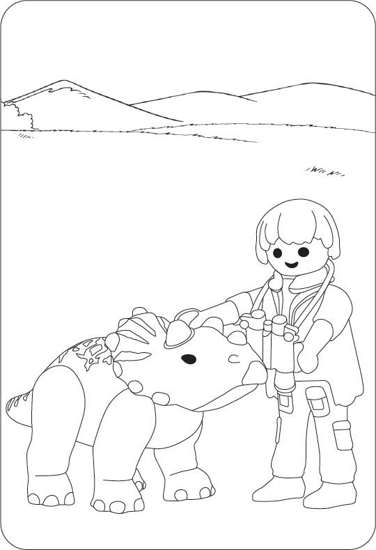 Playmobil Malvorlagen Dino Coloring And Malvorlagan