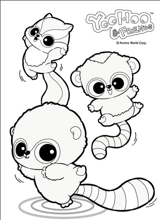 Yoohoo friends spielzeug zu den knuffigen tierchen mit for Zelf coloring pages