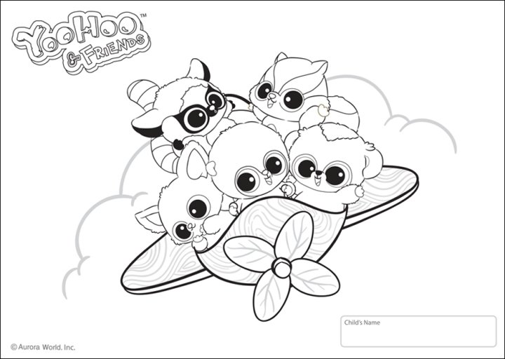 Free yoo hoo friends coloring pages for Yoohoo and friends coloring pages