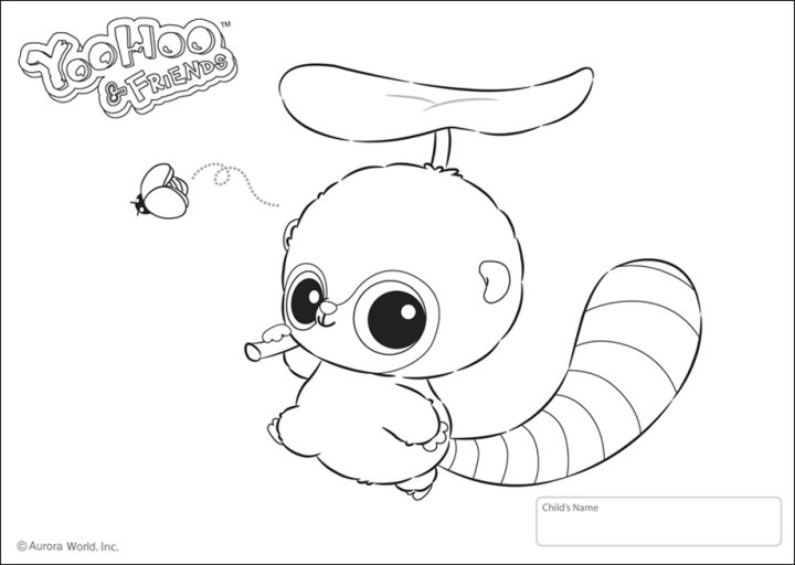 Free coloring pages of yoo hoo friends for Yoohoo and friends coloring pages