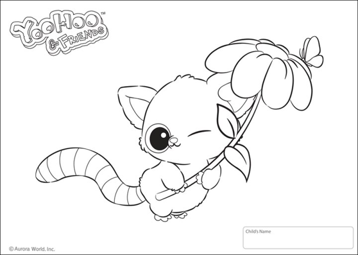 Yoohoo friends spielzeug zu den knuffigen tierchen mit for Yoohoo and friends coloring pages
