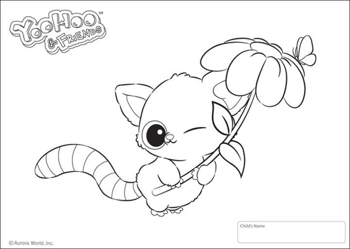 Yoohoo friends spielzeug zu den knuffigen tierchen mit for Yoohoo coloring pages