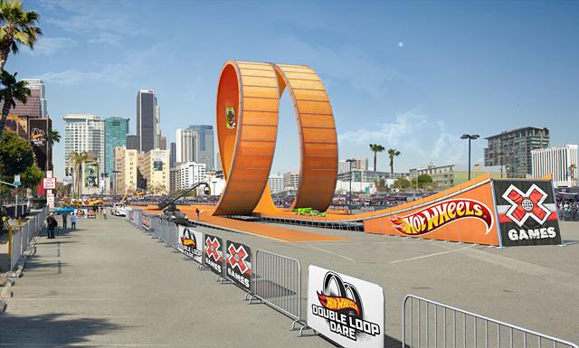 Double Loop Hot Wheels Lässt Es Bei Den X Games Krachen