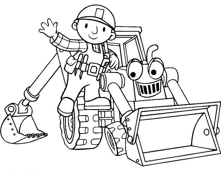 Handwerker ausmalbilder  Bob der Baumeister – Spielzeug zum fleißigen Handwerker!
