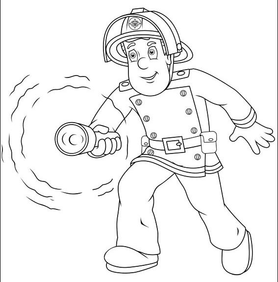Feuerwehrmann Sam Bereit Für Den Nächsten Einsatz