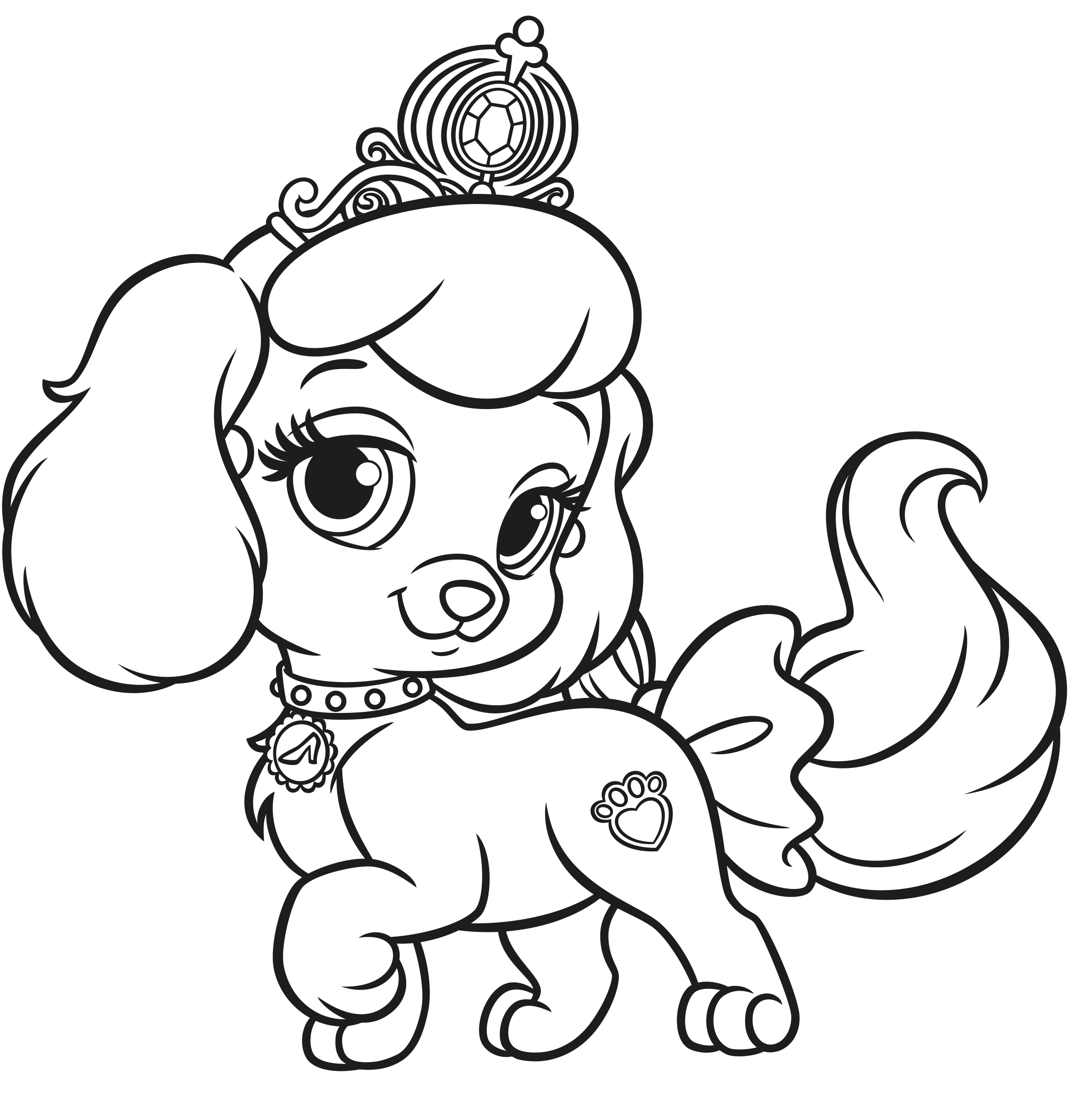 Free coloring pages of palace pets for Hase malen