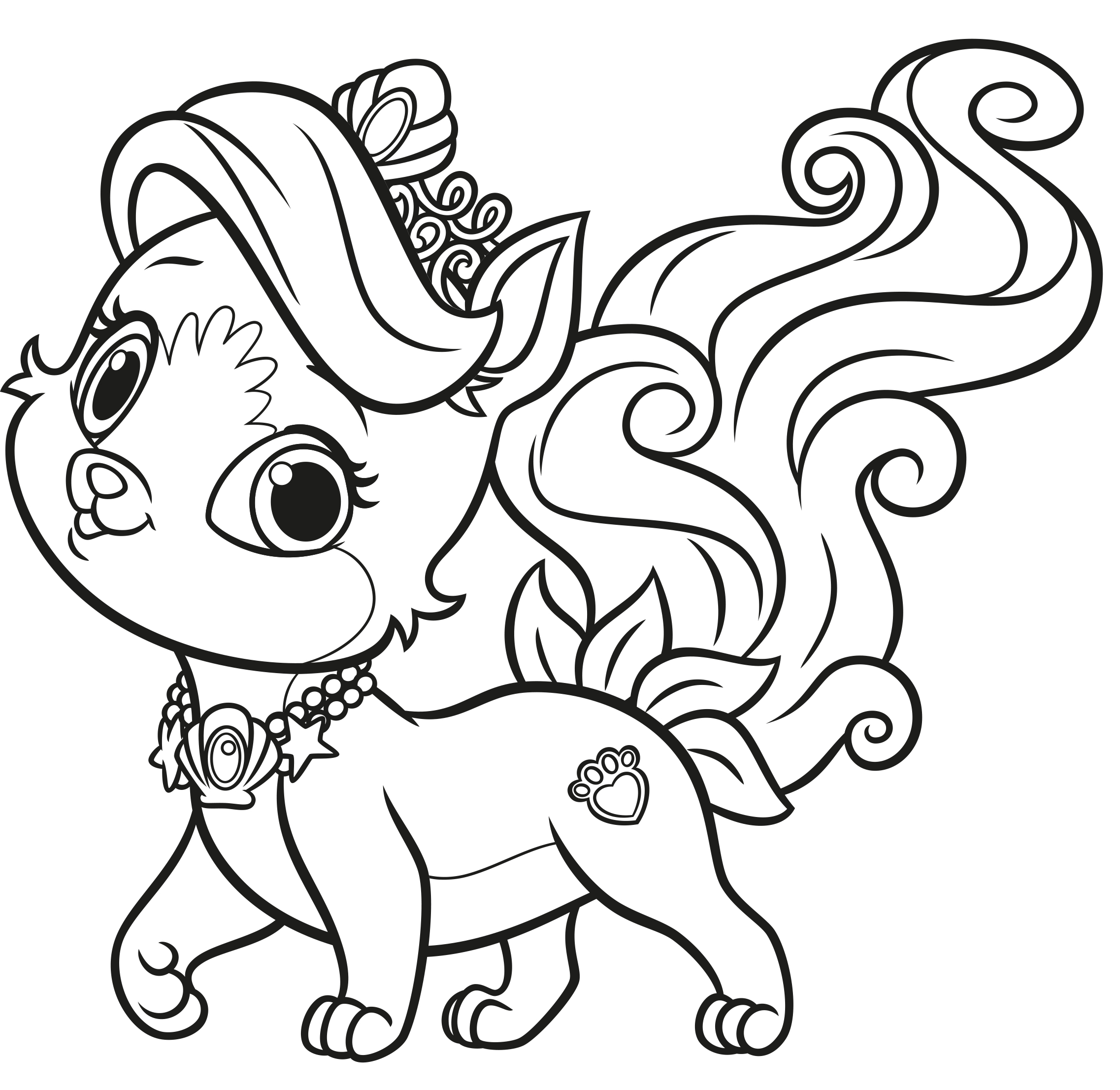 palace pets coloring pages berry - photo #21