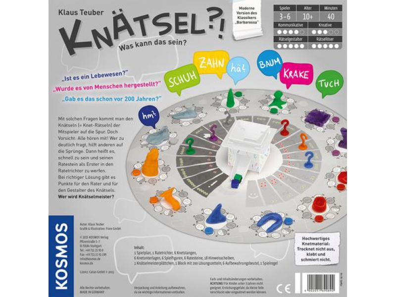 690892 KOSMOS Familienspiele Knätsel Knetspiel Knobelspiel Rätsel Spiel ab 10 J