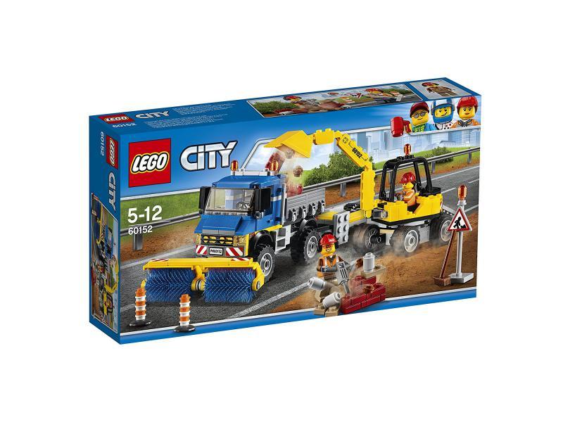 stra enreiniger und bagger lego city lego 60152. Black Bedroom Furniture Sets. Home Design Ideas