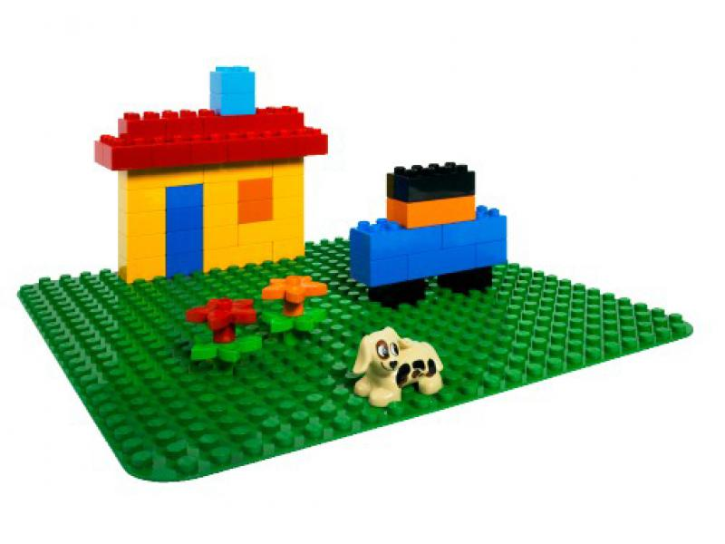 gro e bauplatte gr n lego duplo steine co lego 2304. Black Bedroom Furniture Sets. Home Design Ideas