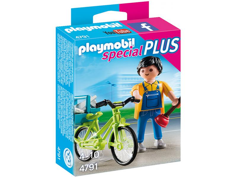 handwerker mit fahrrad playmobil 4791. Black Bedroom Furniture Sets. Home Design Ideas