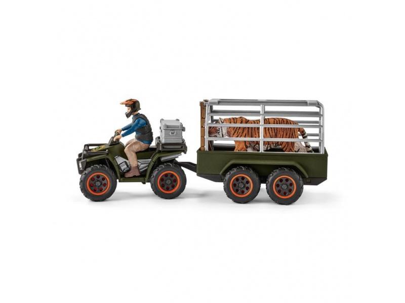 quad mit anh nger und ranger wild life schleich 42351. Black Bedroom Furniture Sets. Home Design Ideas