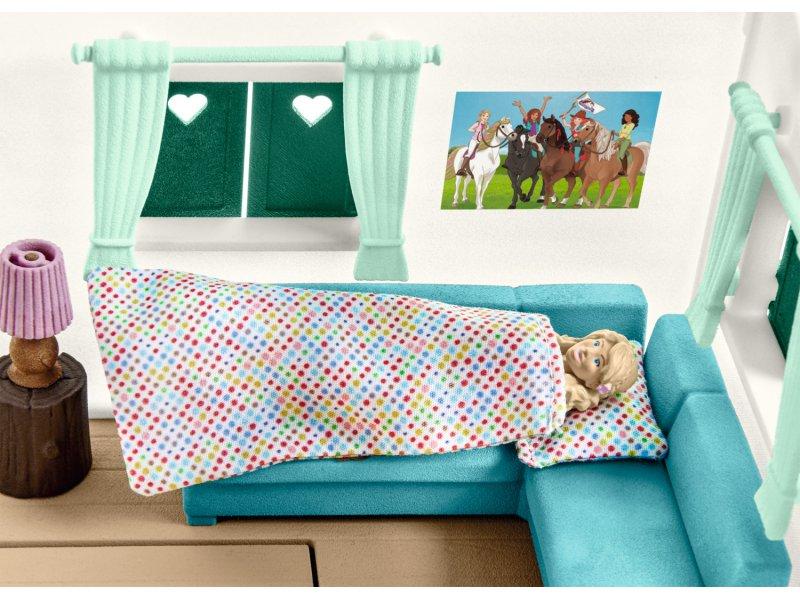 wohnwagen f r geheime club treffen schleich 42415. Black Bedroom Furniture Sets. Home Design Ideas